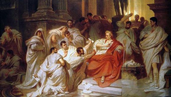 El momento de la traición, interpretado por el artista del siglo XIX Carl Theodor von Piloty. (Foto: Domino Público)