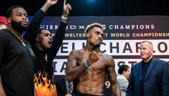 Brian Castaño vs. Jermell Charlo se ven las caras en el AT&T Center de Texas por la unificación de los títulos mundiales superwelter. (Foto: DAZN)