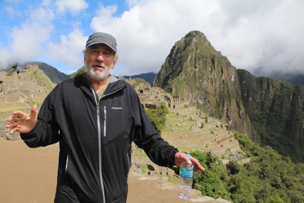 Robert De Niro. El actor y productor estadounidense este 2019 se unió a la larga lista de famosos que visitaron Machu Picchu. (Foto: Andina /Percy Hurtado Santillán)