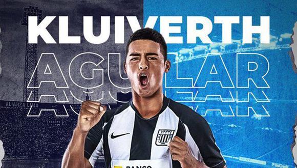 Kluiverth Aguilar fue formado en Regatas Lima y luego fue cedido al Sporting Cristal, pero finalmente debutó con Alianza en Primera División. (Foto: Twitter Alianza Lima).