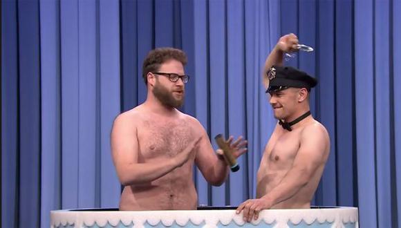 James Franco y Seth Rogen se desnudaron por Jimmy Fallon