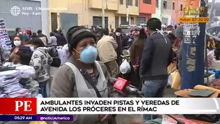 Coronavirus en Perú: ambulantes abarrotaron las calles del Rímac