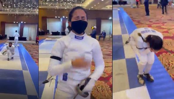 María Luisa Doig clasificó a sus segundos juegos y el video de su celebración está dando vueltas en las redes sociales. (Captura)