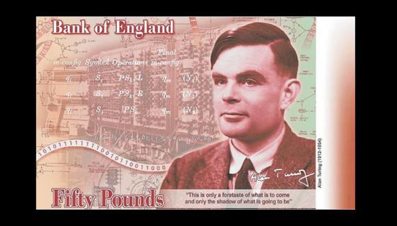 El científico británico Alan Turing aparece ahora en el billete de 50 libras.