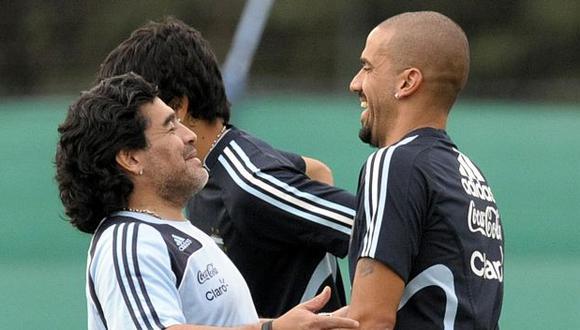 El lamento de Juan Sebastián Verón por la muerte de Diego Armando Maradona. (Foto: AFP)