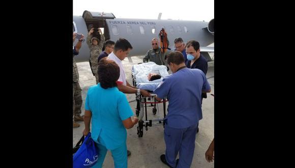 Menor que sufrió quemaduras arribó a Lima para ser atendido