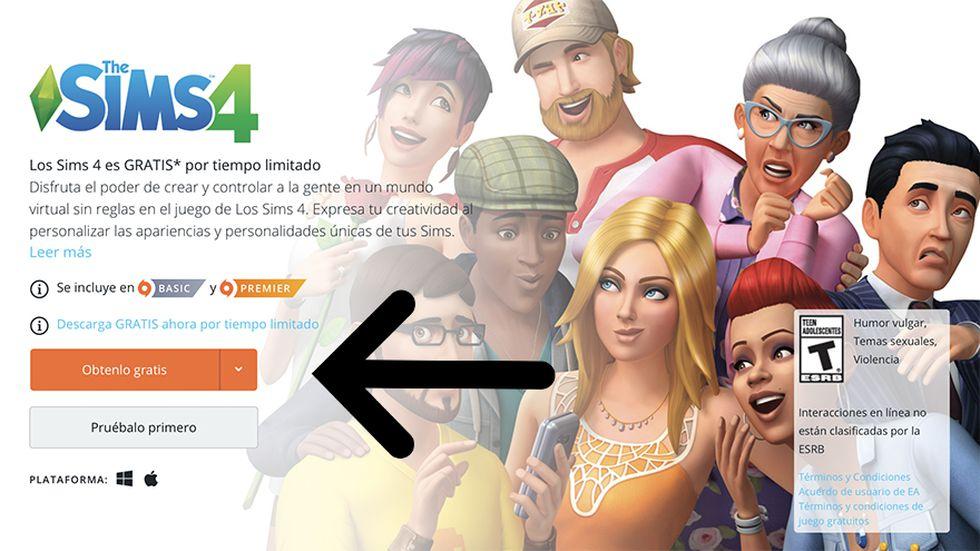 Descargar los Sims 4 es muy sencillo, solo sigue los siguientes pasos. (Captura de pantalla)