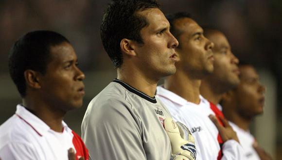 Leao Butrón como arquero titular de la selección peruana durante la Copa América 2007. (Foto: El Comercio)