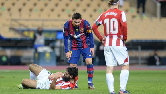 Messi espera conocer la sanción que cumpliría en la Copa del Rey y en LaLiga, en función del número de encuentros con los sea castigado. (Foto: AFP)