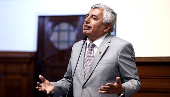 El congresista de Fuerza Popular, Élard Melgar, ha sido acusado por las empresas que venden leche evaporada de querer beneficiarse con su proyecto de ley. (Andina)