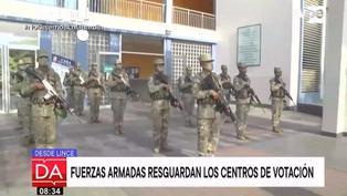 Elecciones 2021: Fuerzas Armadas listos para resguardar centros de votación