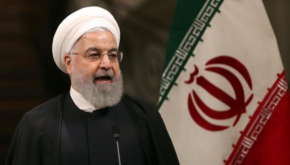 """El presidente de Irán, Hassan Rohani, acusó a Estados Unidos de haber cerrado de forma """"permanente"""" la vía diplomática y de """"mentir"""" sobre su intención de negociar. (AFP)."""