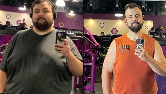 Stephen Vysocky bajó más de 100 kilos en una increíble historia de transformación y crecimiento personal (Foto: Twitter)
