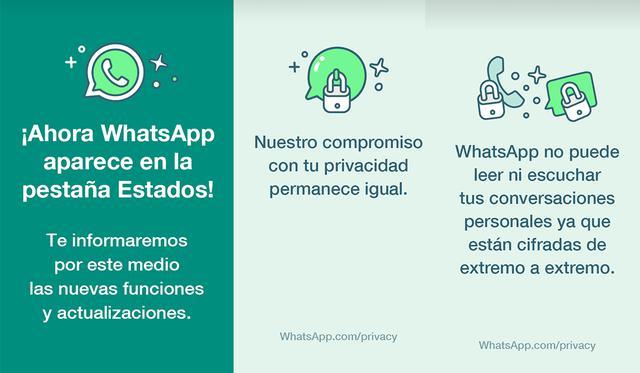 ¿Te ha llegado a tu celular estos extraños estados de WhatsApp? Conoce qué significan. (Foto: MAG)