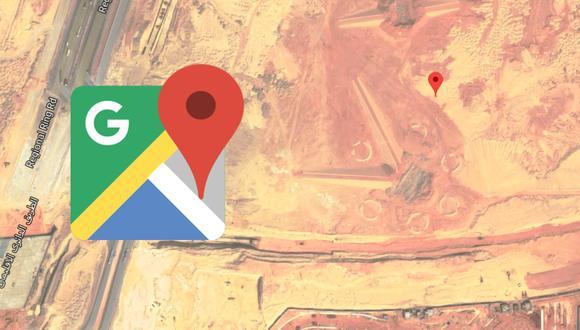 ¿Qué significan estos extraños símbolos que han sido encontrados en Egipto gracias a Google Maps? (Foto: Google)