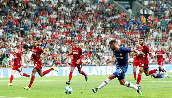 Liverpool vs. Chelsea: Giroud marcó el 1-0 en la Supercopa de Europa tras jugadón de Pulisic. (Foto: EFE)