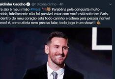 Messi ganó su sexto Balón de Oro: figuras del fútbol mundial saludaron a Leo por una nuevo trofeo individual | FOTOS