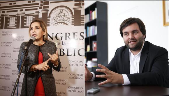 Maritza García (Cambio 21) y Alberto de Belaunde (Bancada Liberal) adelantaron qué comisiones buscarán presidir a partir de julio. (Foto: GEC)