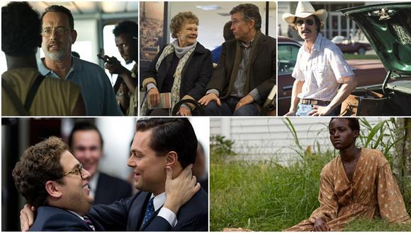 """""""Capitán Phillips"""", """"Philomena"""", """"El club de los desahuciados"""", """"El lobo de Wall Street"""" y """"12 años de esclavitud"""". (Fotos: AP/ Reuters)"""