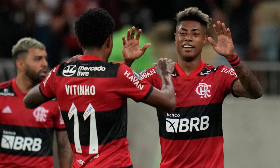 Flamengo superó al Barcelona de Guayaquil en la semifinal de ida de la Copa Libertadores 2021 | Foto: AFP