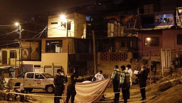 Asesinan a joven de 21 años en el distrito de Ventanilla. (Foto: Joel Alonzo/ @photo.gec)