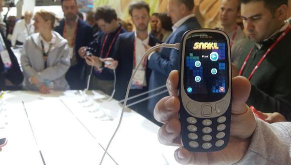Nokia relanzó su clásico celular 3310 y el imperdible juego Snake. (Foto: El Comercio)