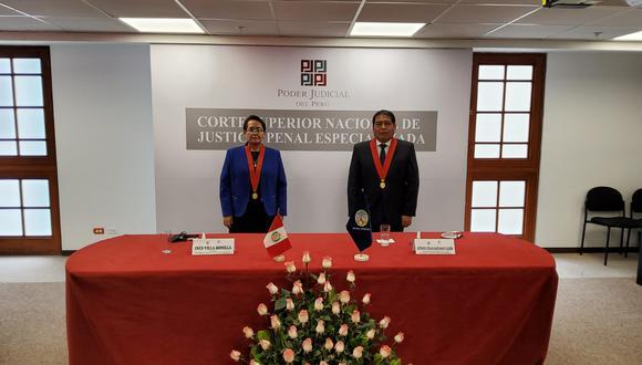 César Sahuanay asumió como presidente provisional de la Corte Superior Nacional de Justicia Penal Especializada