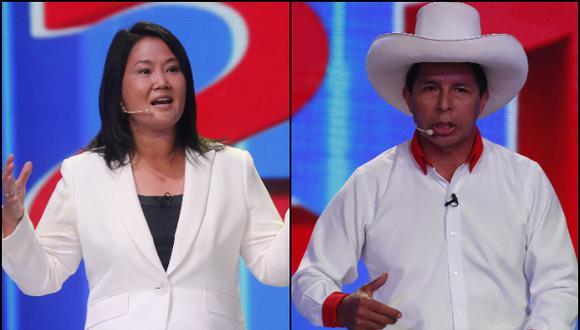 Pedro Castillo y Keiko Fujimori participarán en un debate organizado por el JNE el 30 de mayo. (Fotos: Archivo GEC)