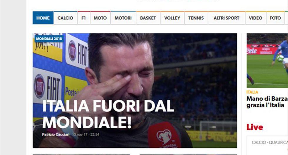 Corriere dello Sport - Italia. (Foto: captura de pantalla)