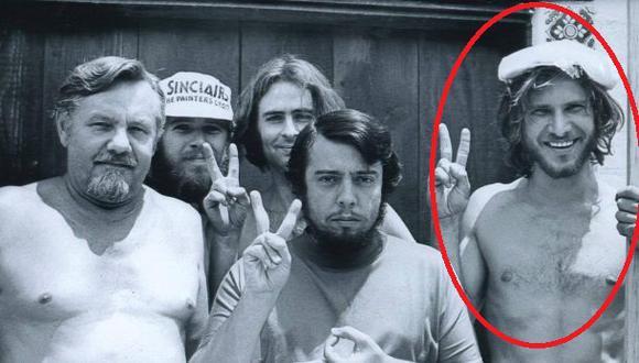 Harrison Ford se veía así en los años 70 cuando era carpintero