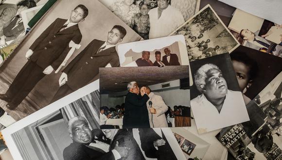 El artista en su primera comunión, con su primo Pepe Villalobos; alguna más con Joao Baena, secretario general de la OEA en 1987, cuando el 'Zambo' fue homenajeado allí. Pero la imagen central es junto a Óscar Avilés, con quien grabó más de 10 producciones.