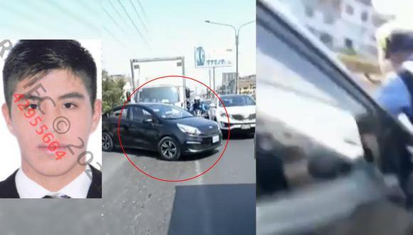 Christian Banda Bolaños embistió contra Roy Álvarez en su intento de escapar de un operativo. (Foto: apnoticias)