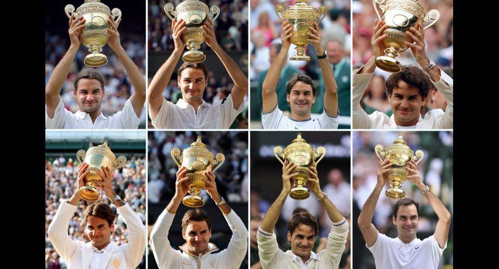 Roger Federer rey de Wimbledon: sus ocho conquistas en imágenes. (Foto: AFP/Reuters)