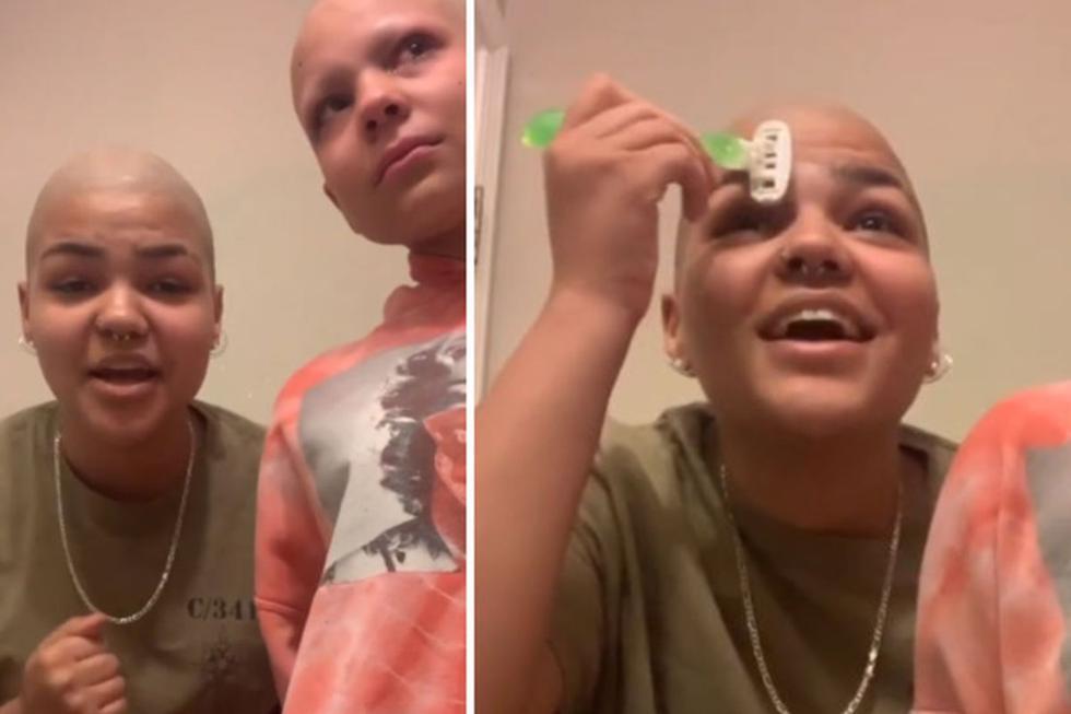 La joven no quería que su hermana se sintiera mal por su aspecto y decidió brindarle su apoyo de una singular manera. (Instagram: trillcami)