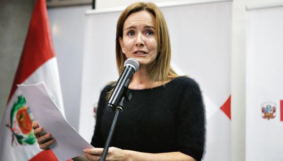 La ministra de Educación, Marilú Martens, se reunió por primera vez con los dirigentes huelguistas, dijo el congresista Vicente Zeballos. (Foto: Alonso Chero/ Archivo)