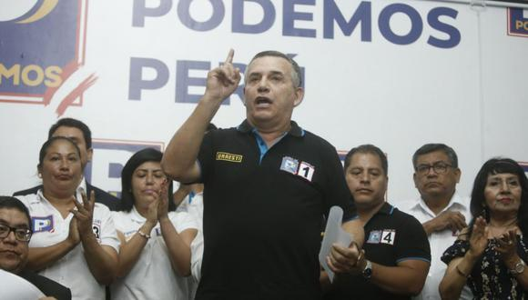 El virtual congresista Daniel Urresti ha reclamado ante cámaras el liderazgo de la bancada de su partido mientras prometía que no iban a blindar a Luna Gálvez. (Foto: GEC)