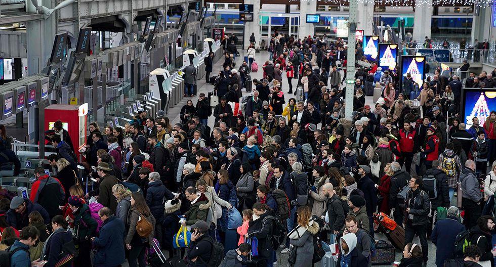 El 59% del servicio de trenes para 23 y 24 de diciembre fueron cancelados. (Foto: AFP)