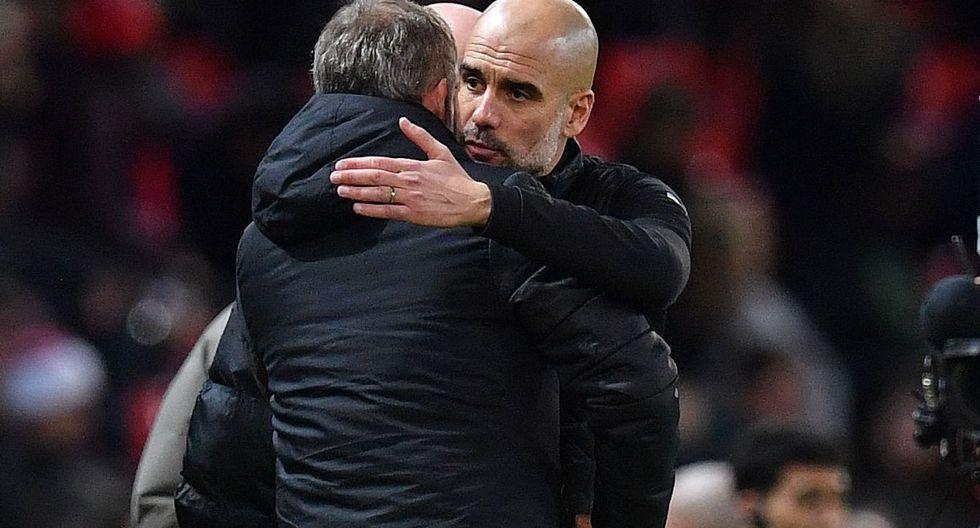 """Pep Guardiola tras el 3-1 en Old Trafford por la Copa de la Liga Inglesa: """"Manchester United puede remontar"""" [Foto: AFP]"""