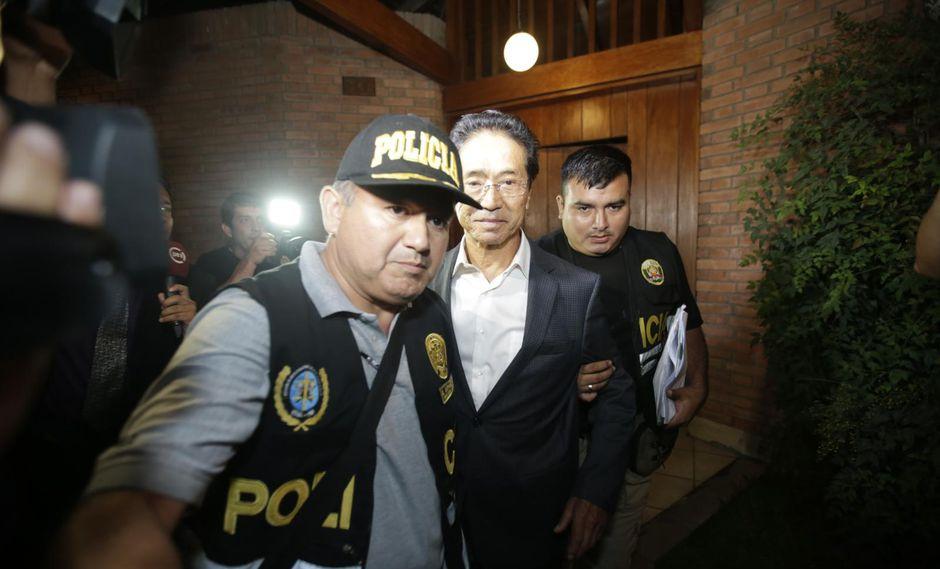 El ex ministro de Transportes Jaime Yoshiyama cumple con una orden de prisión preventiva por el Caso Odebrecht. (Foto: GEC)