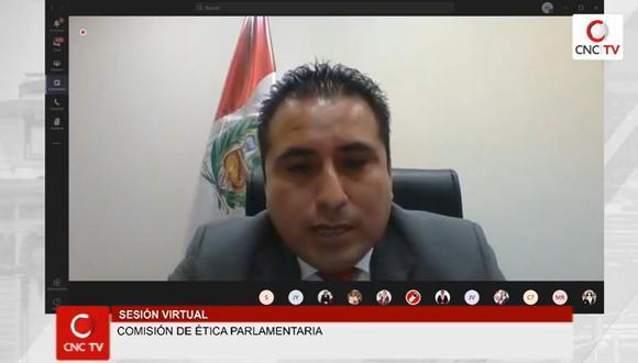 Congresista Mariano Yupanqui ingresó a la Comisión de Ética en reemplazo de César Gonzales, quien renunció a la bancada de Somos Perú. (Congreso TV)