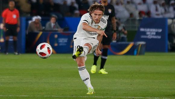 Real Madrid vs. Al Ain: Modric marcó el 1-0 con este sensacional remate de zurda. (Foto: AFP/Reuters)