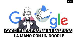 Google nos enseña a lavarnos La mano con un Doodle