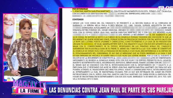 """""""Magaly TV: La Firme"""" puso en evidencia las denuncias que hay en contra de Jean Paul Gabuteau. (Foto: Captura ATV)"""