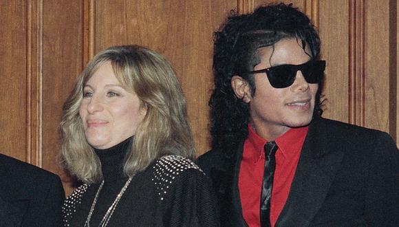 Barbra Streisand y Michael Jackson. (Foto: AP)