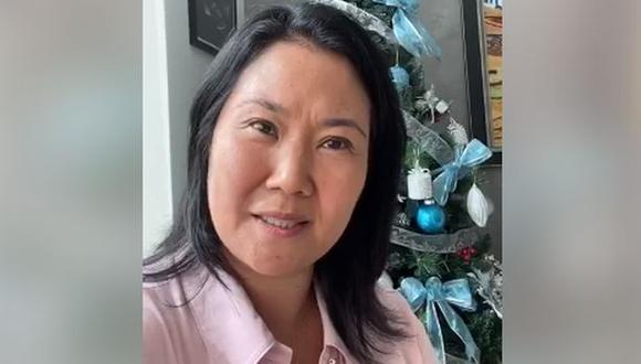 Keiko Fujimori difundió ayer un video en Facebook en el que se pronunció sobre su situación legal.. (Foto: Imagen de video)