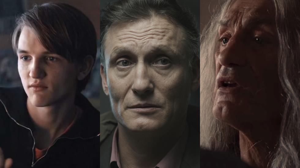 """""""Dark"""". En fotos, el personaje de Ulrich Nielsen interpretado por distintos actores en varios momentos de su vida: adolescencia (Ludger Bökelmann), adultez (Olivr Masucci) y Winfried Glatzeder (tercera edad). Fotos: Netflix."""