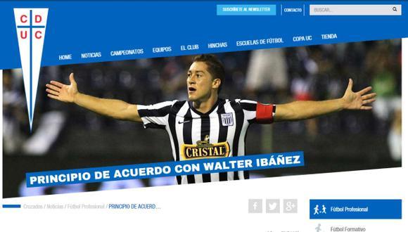 Alianza Lima: Walter Ibáñez arregló con Universidad Católica