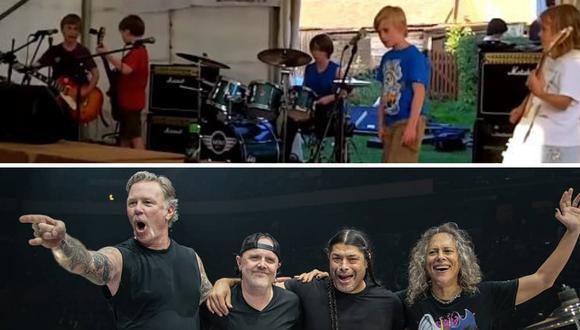 Un grupo compuesto por niños y niñas se robó el show con su versión de un clásico de Metallica. (Foto: Newbury Rock School en YouTube/@metallica en Instagram)