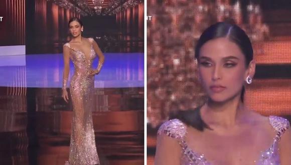 El desfile de la peruana Janick Maceta fue destacado por la organización Miss Universo 2021. (Foto: captura)