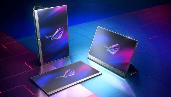 Asus presentó su monitor portátil enfocado en los videojuegos llamado ROG Strix XG17. (Imagen: Asus)